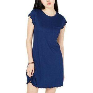 Ultra Flirt L Blue Pocket Mini Dress NWT CH65
